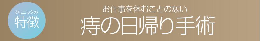 マイクリニック大久保 名古屋の特徴 痔の日帰り手術