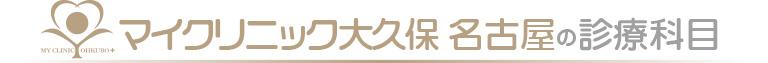 マイクリニック大久保 名古屋の診療科目