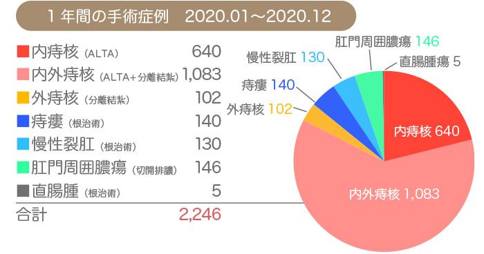 2020年痔の手術実績